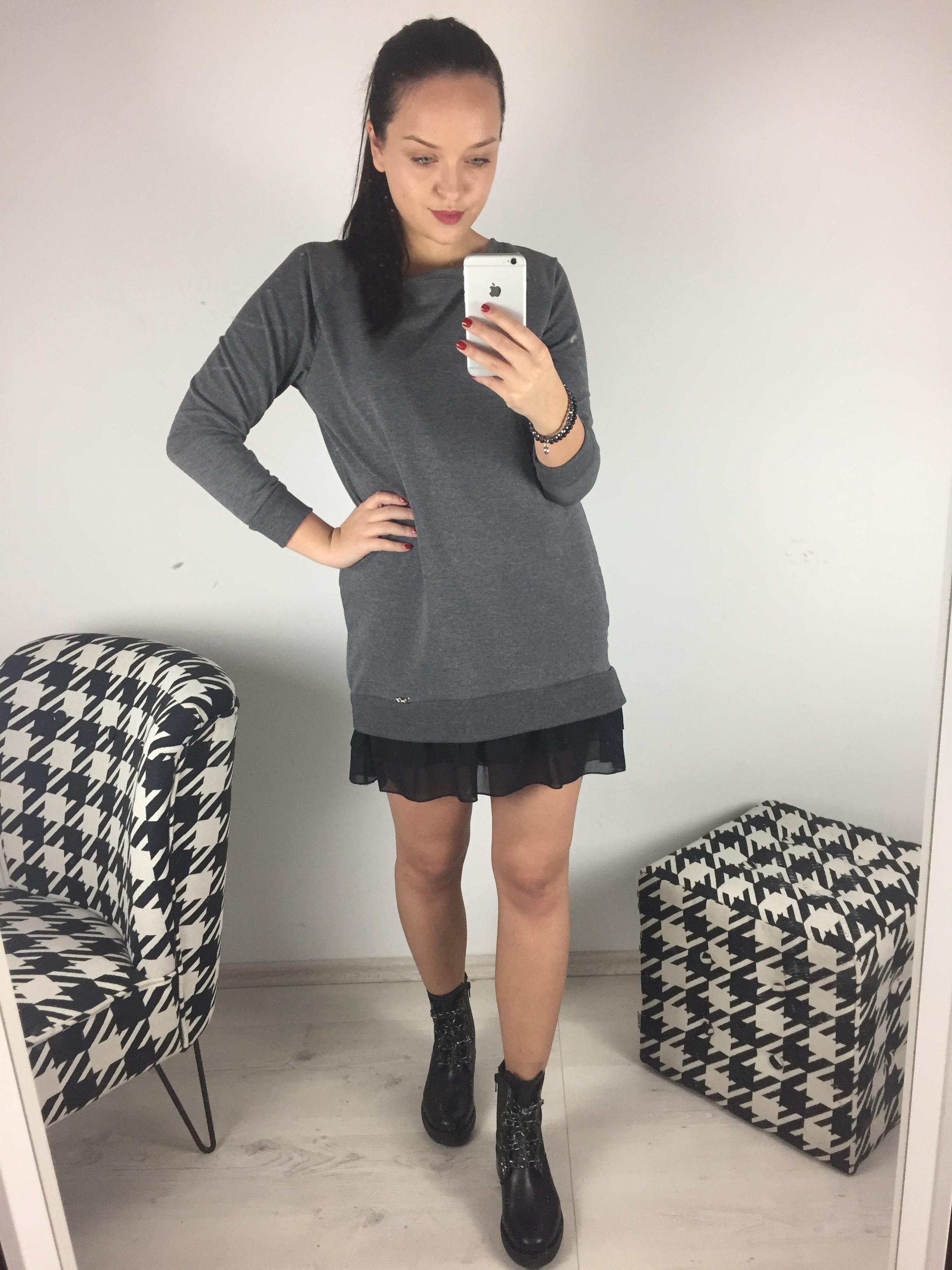 Eshopat Dámské šaty Ina Grey Velikost oblečení: UNI
