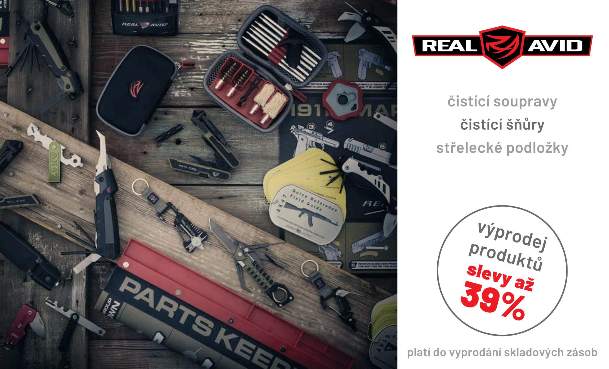 Vyprodejova akce na produkty Real Avid
