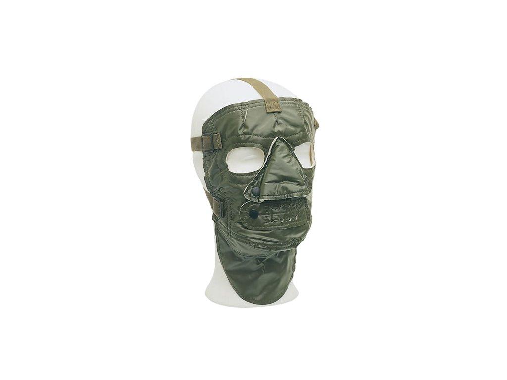 Maska obličejová US zateplená ZELENÁ