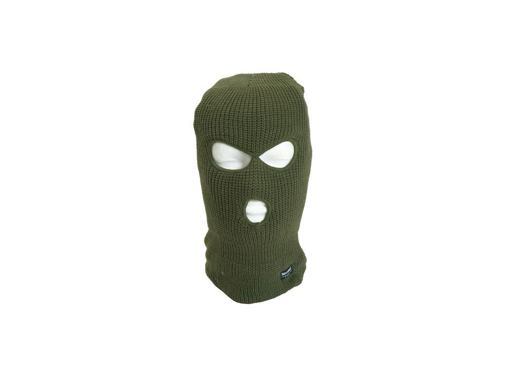 Kukla pletená Thinsulate™ 3 otvory ZELENÁ