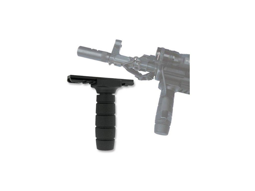 Rukojeť přídavná pro uchopení zbraně včetně RAILU 98 mm