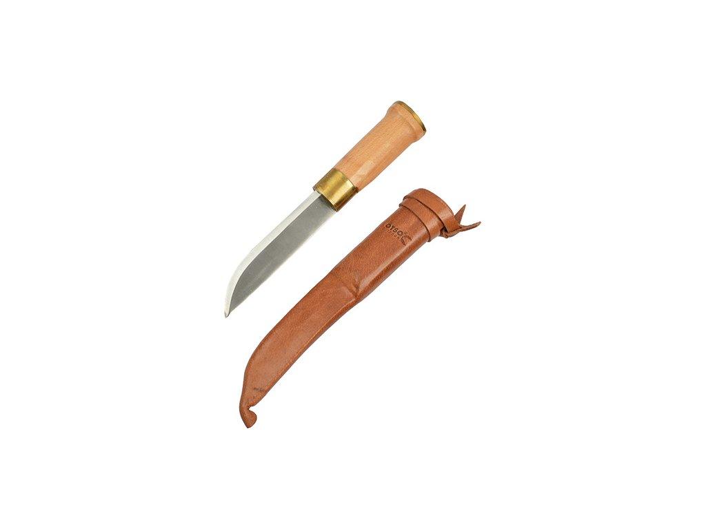 Nůž FINSKÝ malý 24cm s koženým pouzdrem