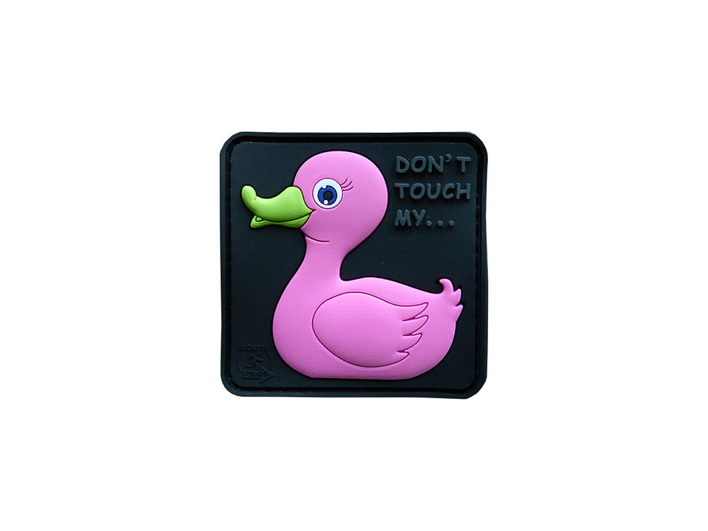 """Nášivka Duck """"kachna"""" RŮŽOVÁ"""