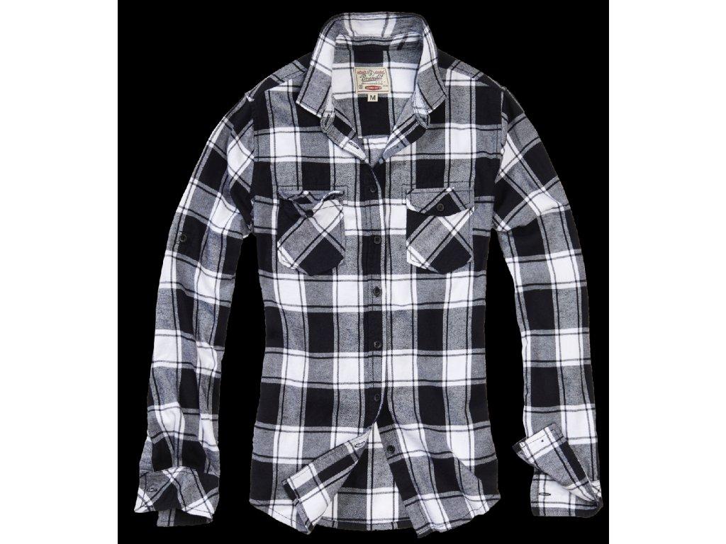 Amy dámská flanelová košile Brandit černo-bílá