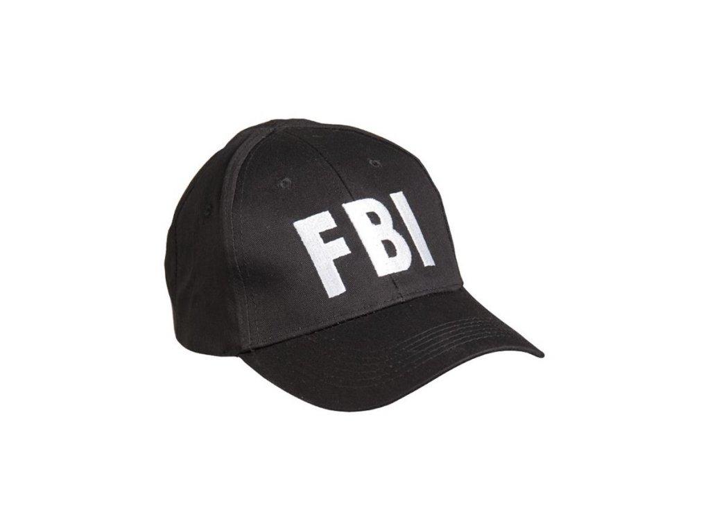 Čepice baseball s nápisem 'FBI' ČERNÁ