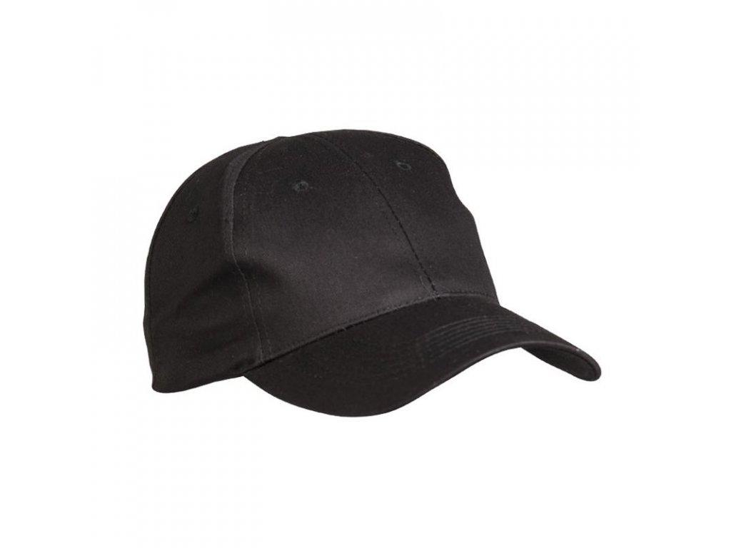 Čepice baseball s kšiltem ČERNÁ