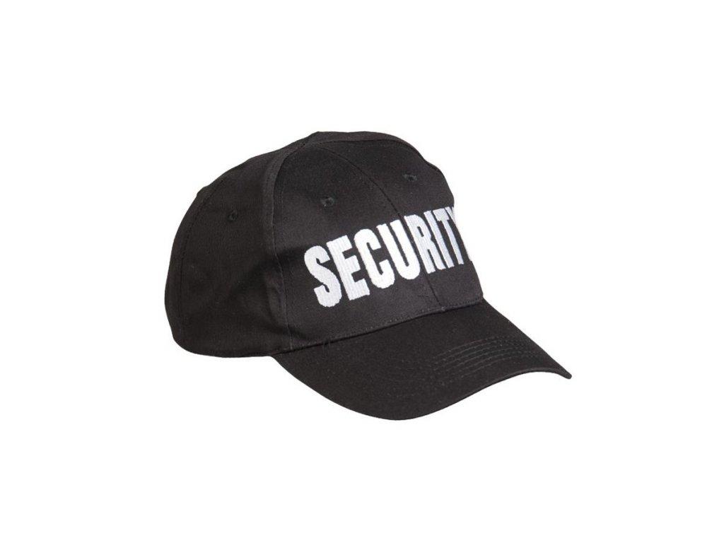 Čepice baseball s nápisem 'SECURITY' ČERNÁ