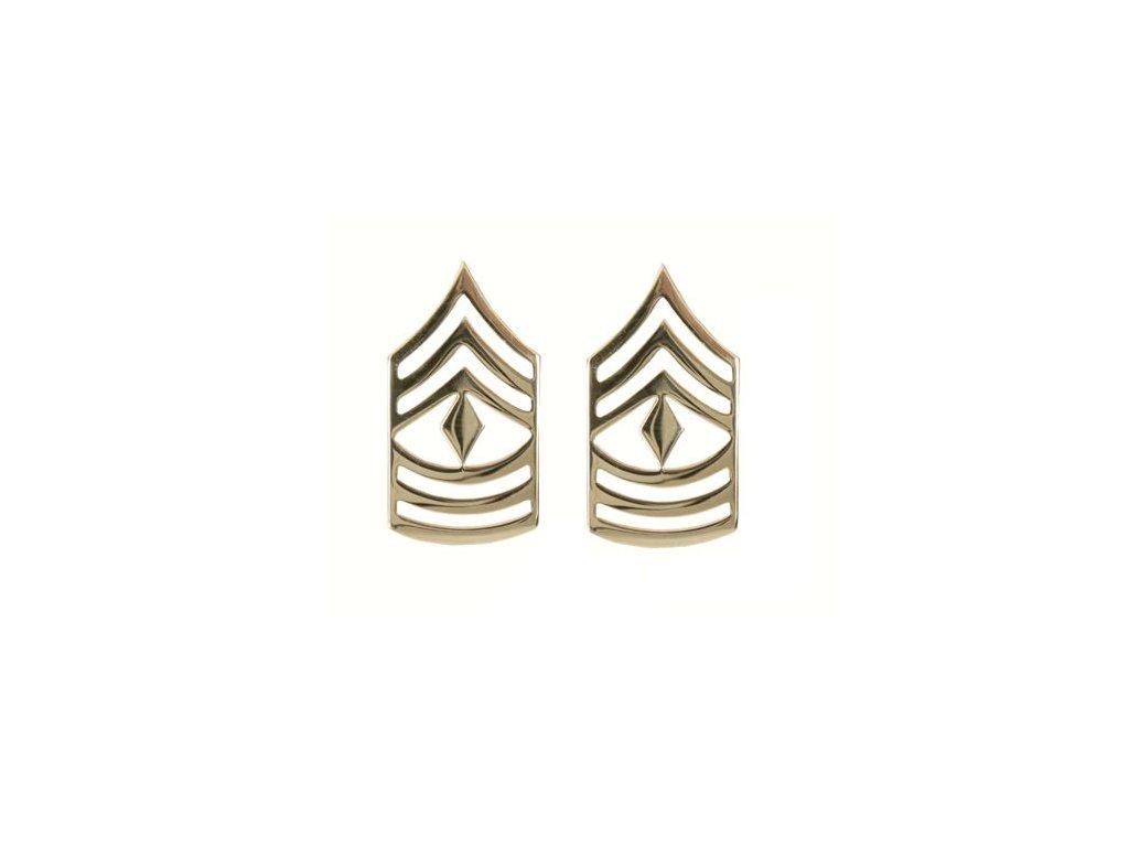 Odznak hodnosti FIRST SERGEANT POLISHED ZLATÝ
