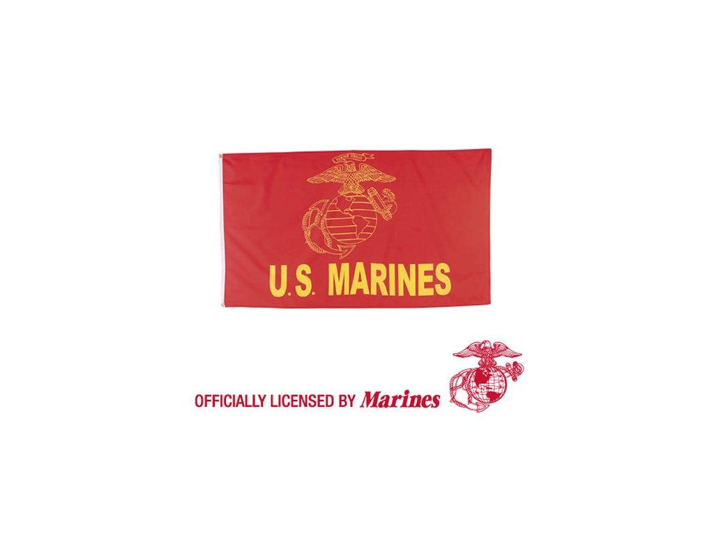 Vlajka U.S. MARINE ČERVENÁ