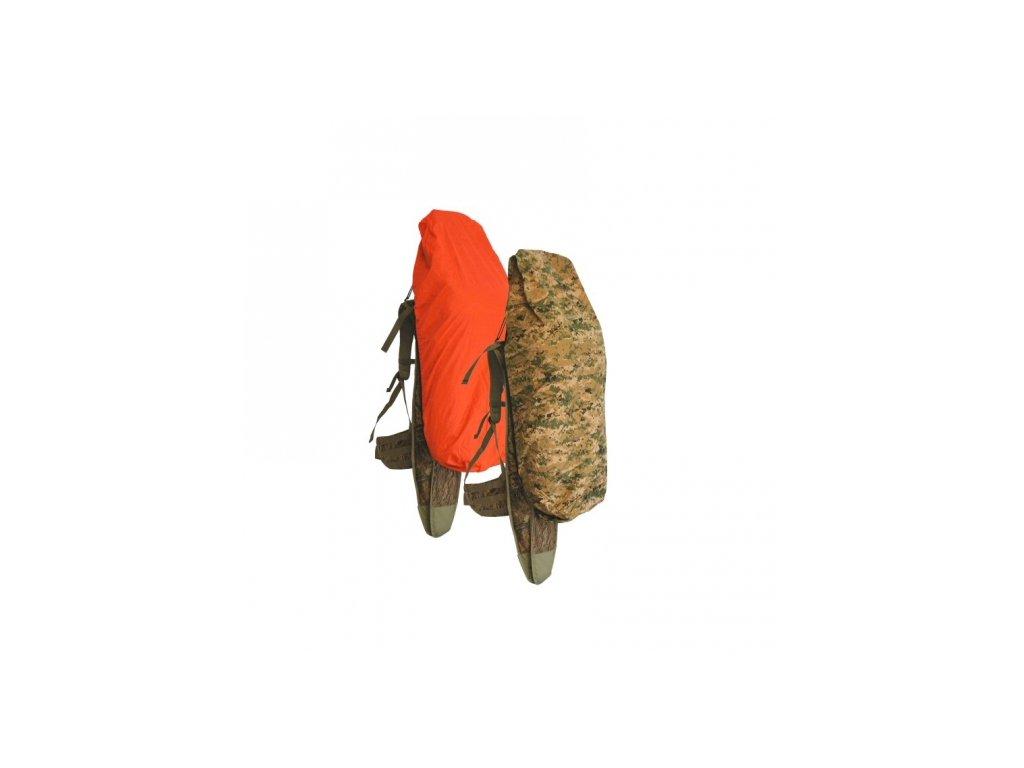 Převlek na batoh oboustranný EBERLESTOCK UNICAM II / ORANŽOVÝ malý