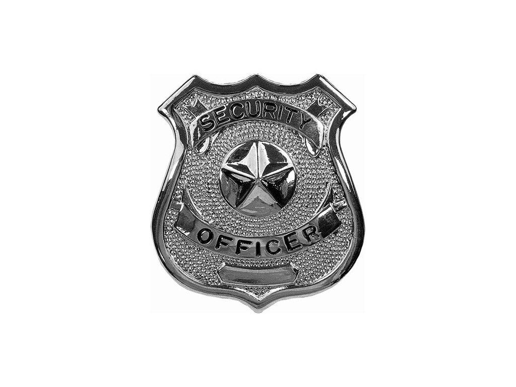dznak SECURITY OFFICER STŘÍBRNÝ