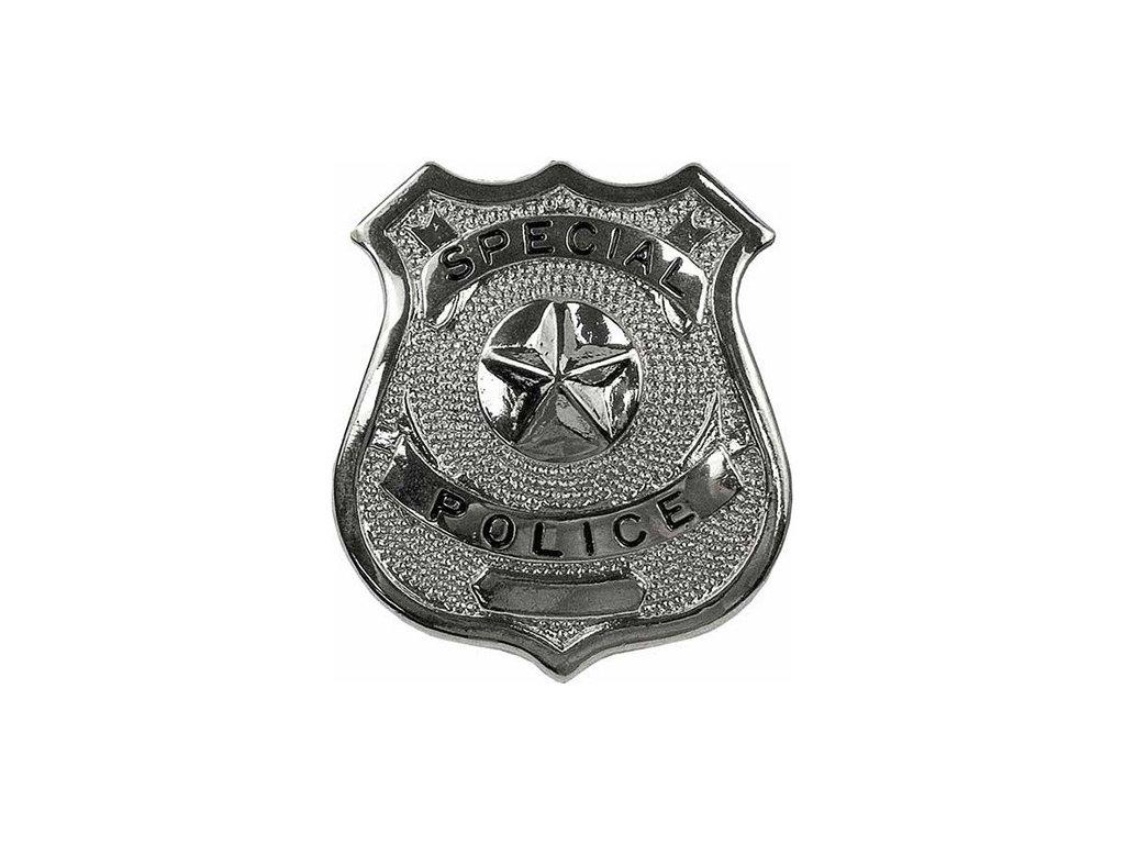 dznak SPECIAL POLICE STŘÍBRNÝ