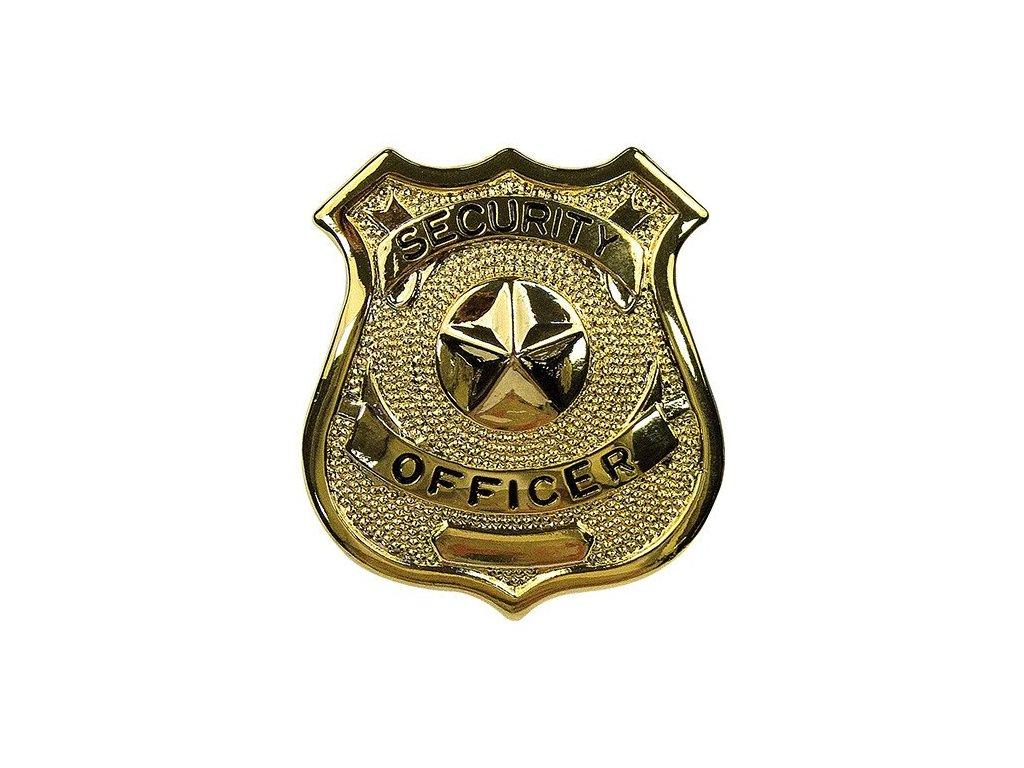 dznak SECURITY OFFICER ZLATÝ