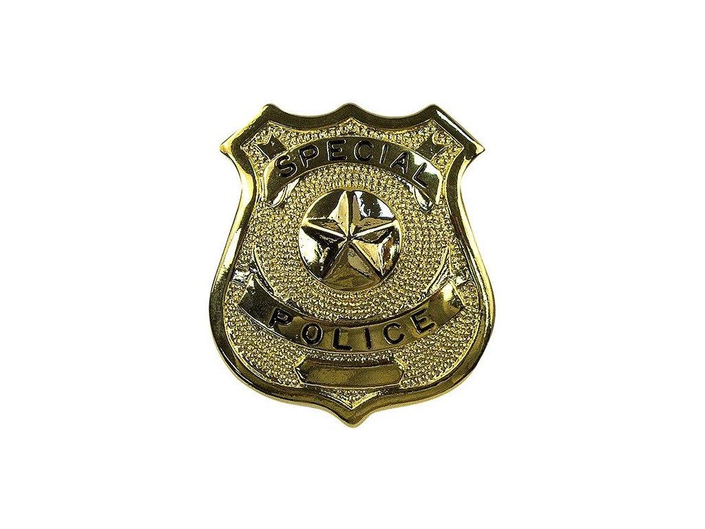 dznak SPECIAL POLICE ZLATÝ