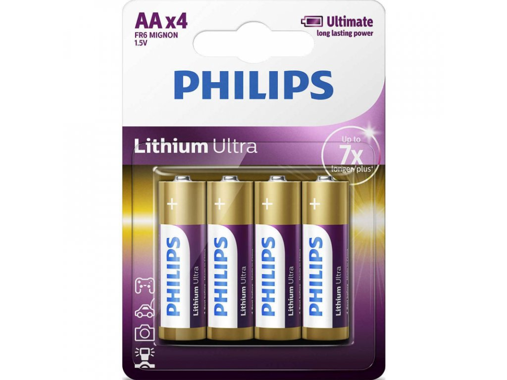 Lithiová Baterie Philips Ultra Lithium FR6 AA