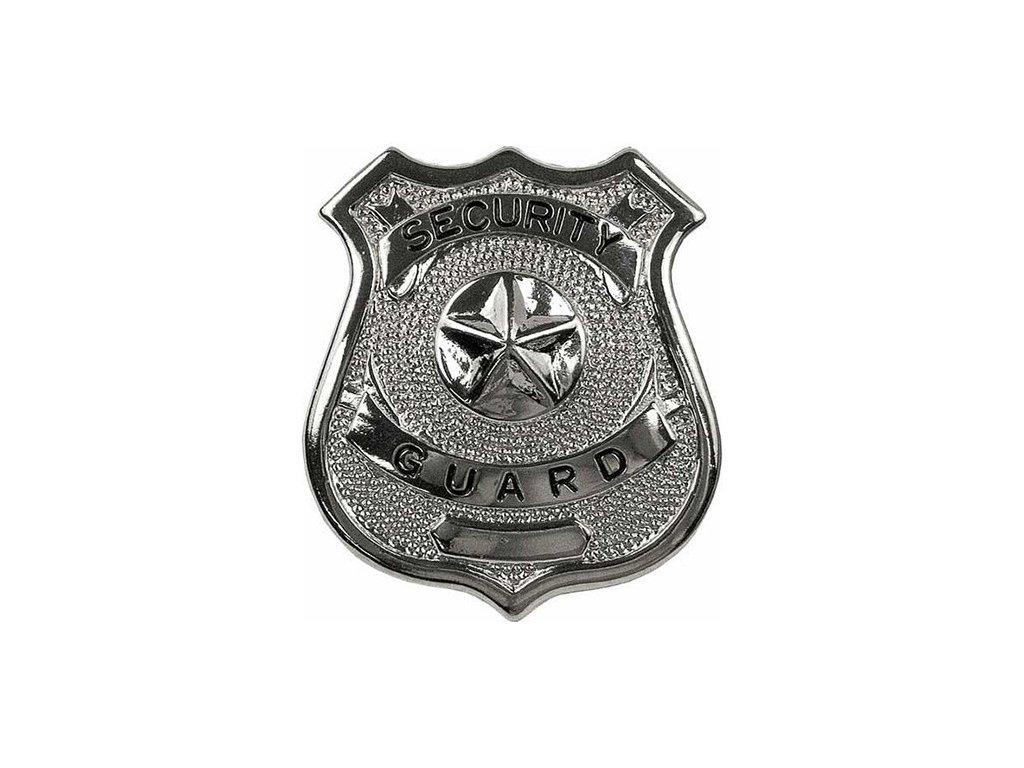 dznak SECURITY GUARD STŘÍBRNÝ