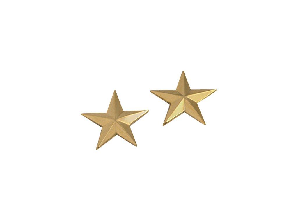 dznak hodnosti GOLD GENERAL STARS ZLATÝ