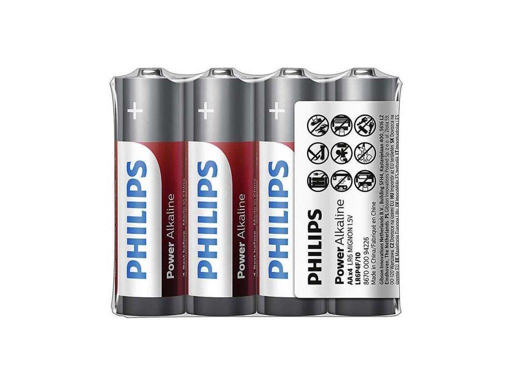 Alkalické baterie Philips AA Power Alkaline