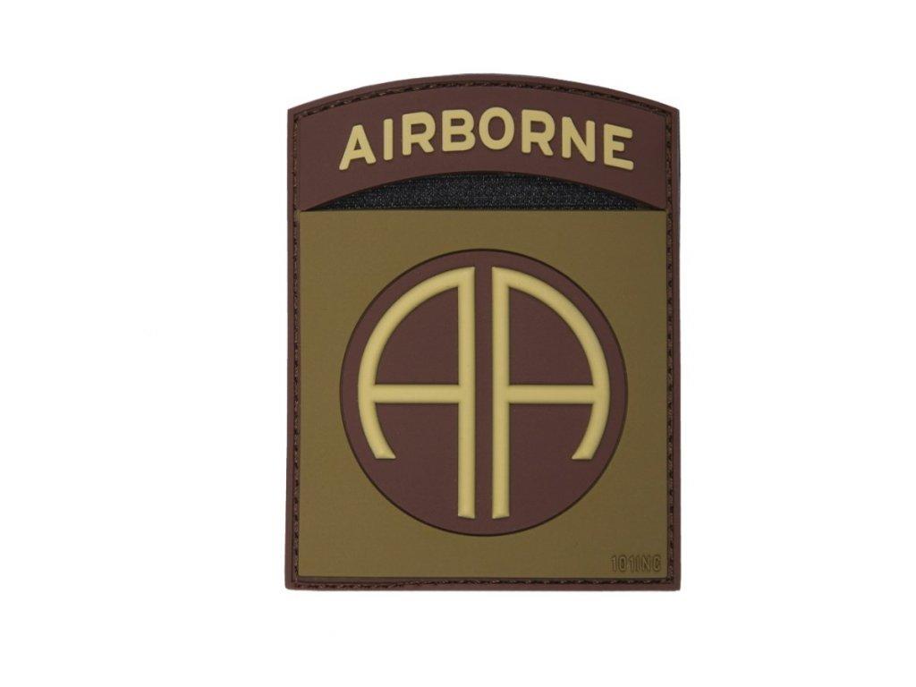 ášivka 3D plastová AIRBORNE 82nd COYOTE