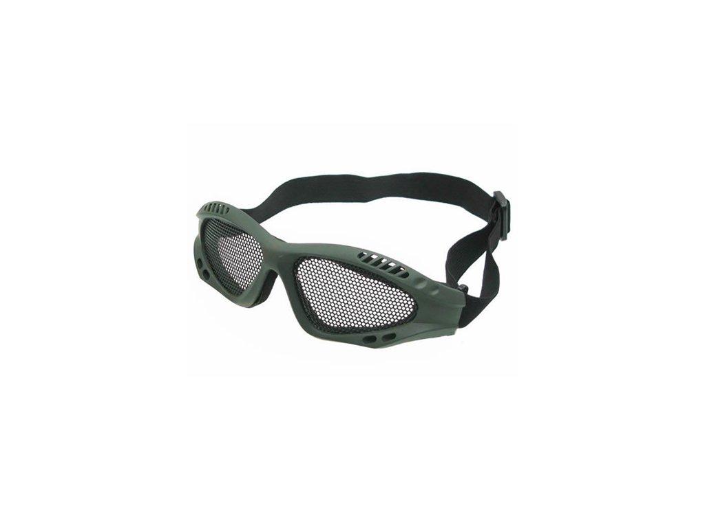 Brýle s kovovou mřížkou ZELENÉ