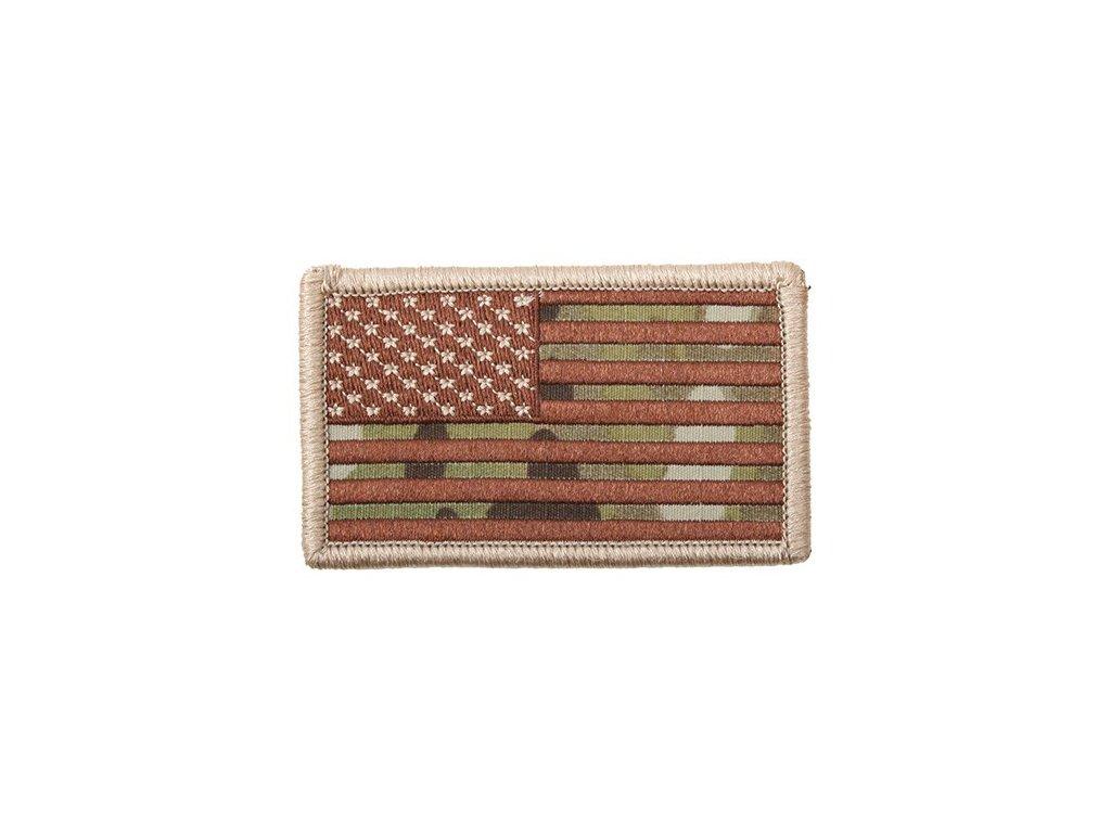 Nášivka US vlajka 4,5 x 8,5 cm MULTICAM