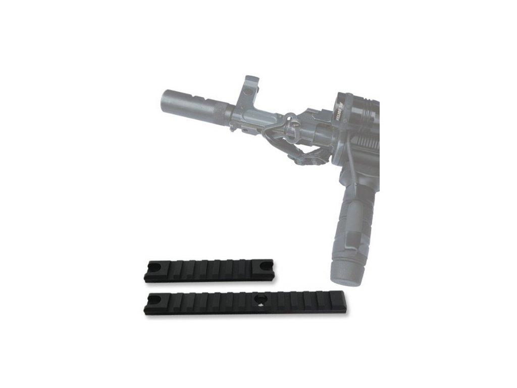 RAIL PICATINNY WEAWER sada 2 kusů /155 mm a 98 mm/