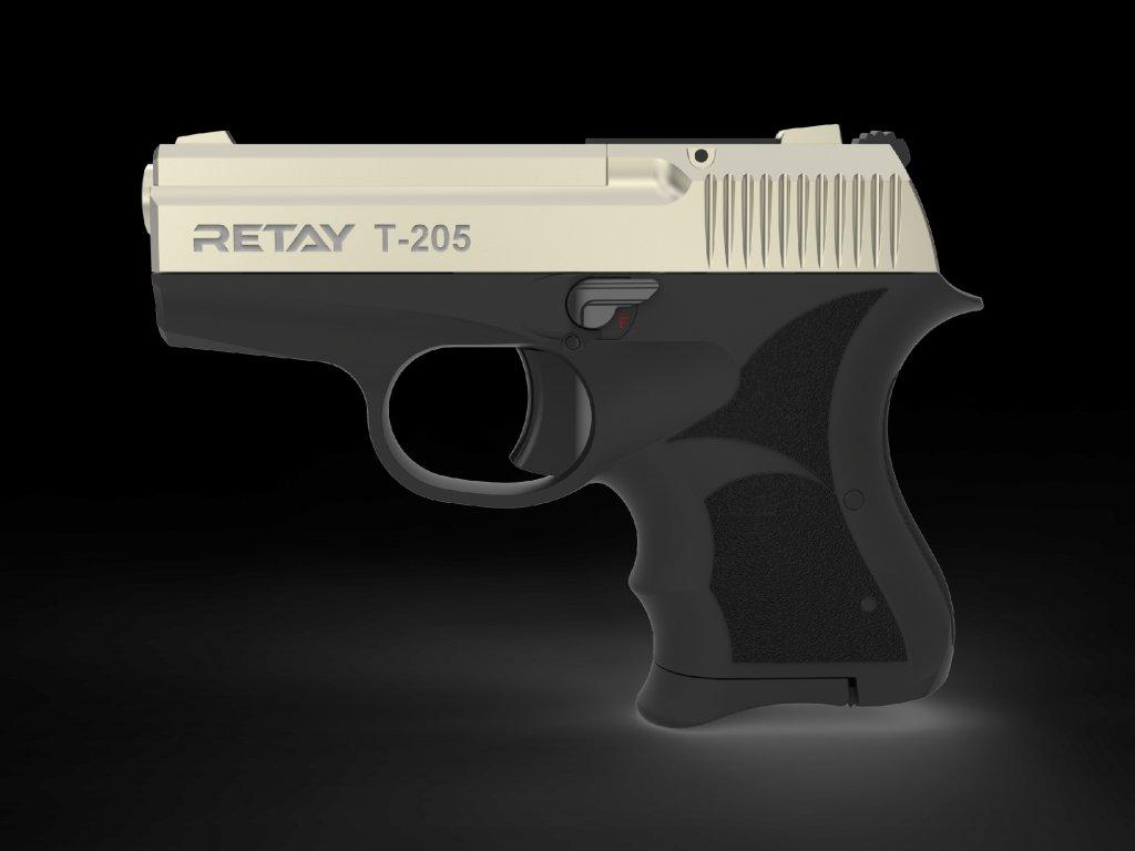 Plynová pistole Retay T205 8 mm P.A.K. - satén