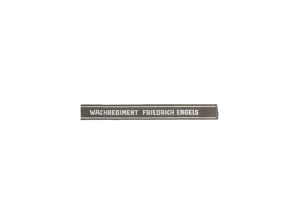 šivka páska NVA na rukáv 'W F.ENGELS'