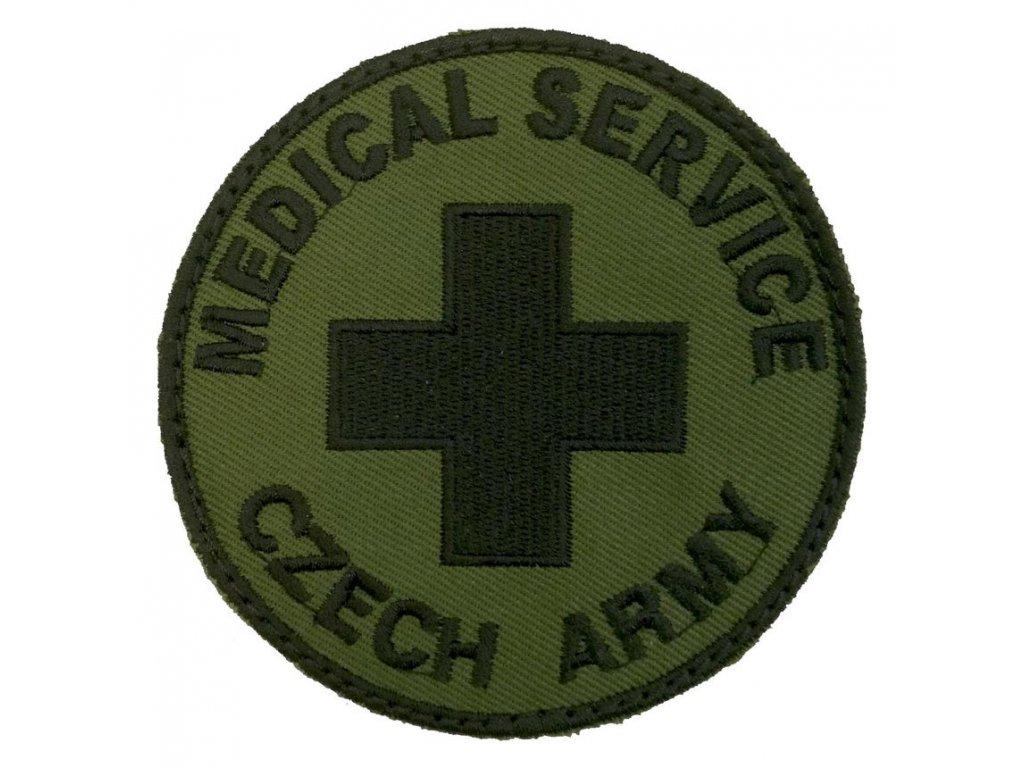 ášivka MEDICAL SERVICE CZECH ARMY bojová VELCRO