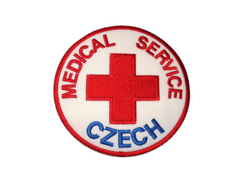 ášivka MEDICAL SERVICE CZECH ARMY barevná VELCRO