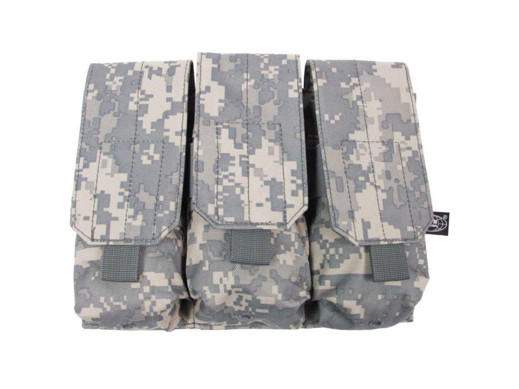 Sumka MOLLE na zásobníky M4/M16 trojitá ACU DIGITAL