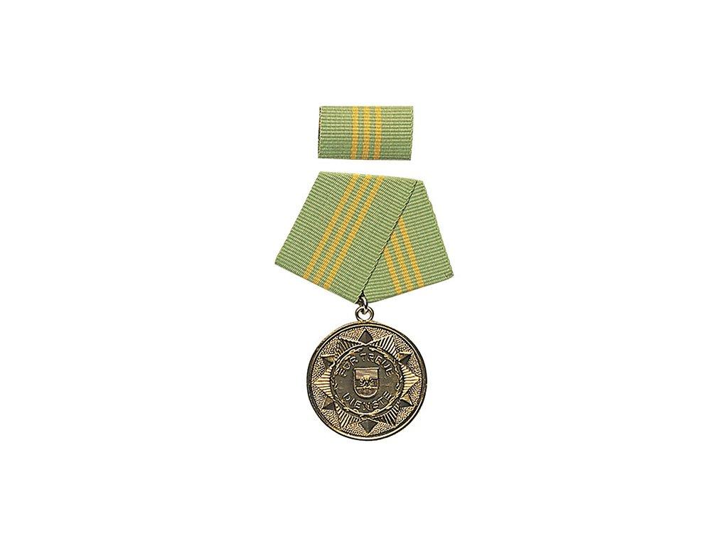 Medaile vyznamenání MDI 'F.TREUE DIENSTE' 15let ZLATÁ