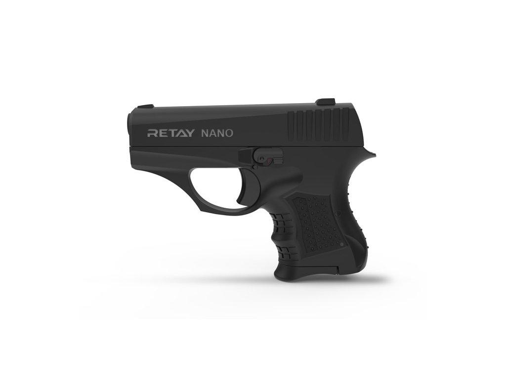 Plynová pistole Retay Nano 8 mm P.A.K. - černá