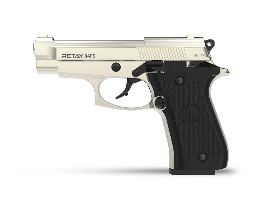 Plynová pistole Retay 84FS 9 mm P.A.K. - satén
