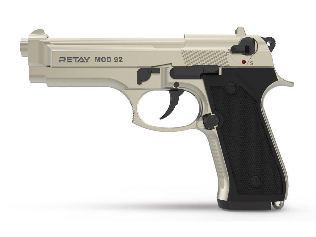Plynová pistole Retay MOD 92 9 mm P.A.K. - satén