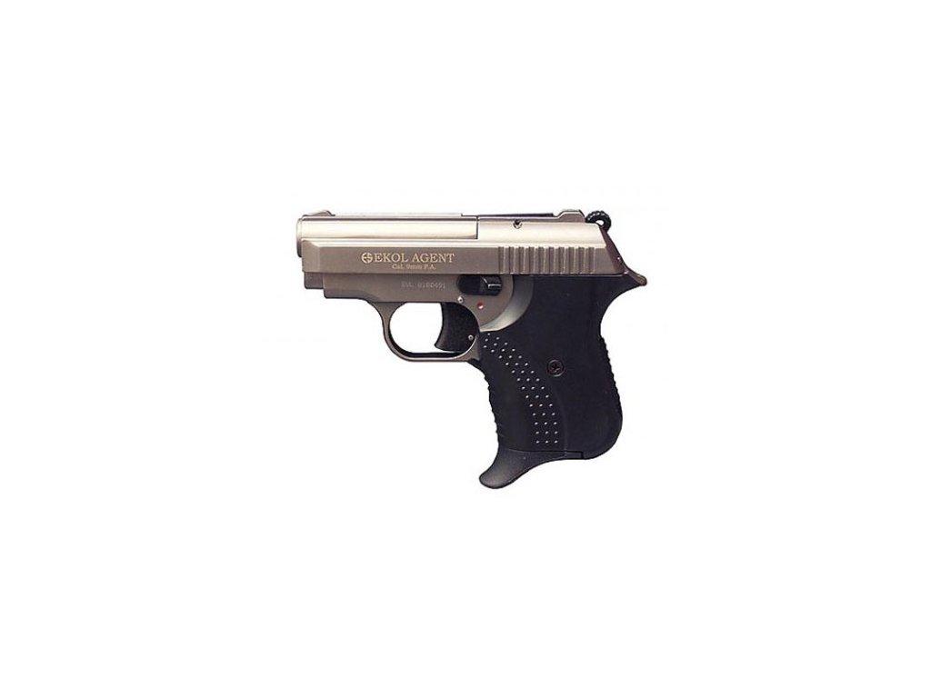 Plynová pistole Ekol Agent cal. 9 mm P.A.K. - nikl/satén