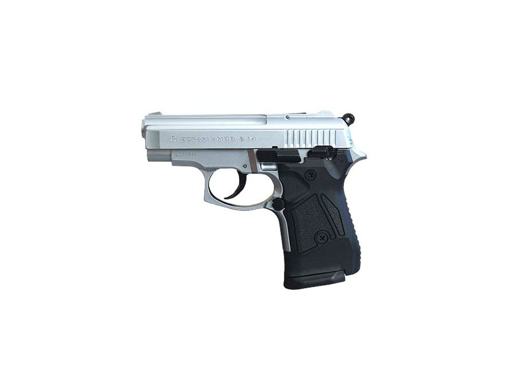 Plynová pistole Atak Zoraki 914 9 mm P.A.K. - mat.chrom