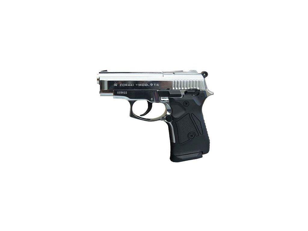 Plynová pistole Atak Zoraki 914 9 mm P.A.K. - lesk.chrom