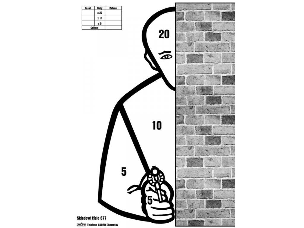 Terč policejní - Zeď