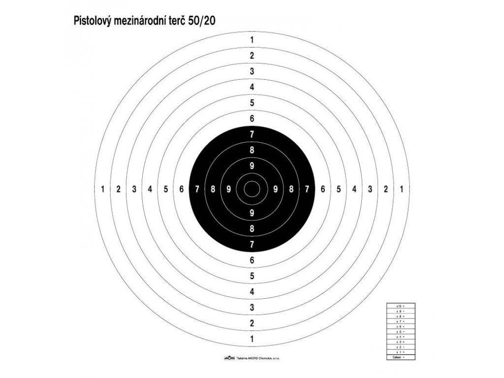Terč pistolový mezinárodní