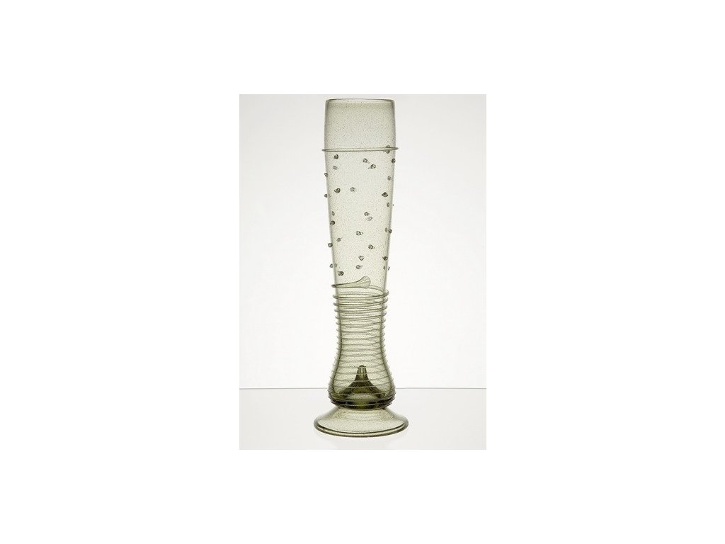 Široká váza Píšťala - perličková 5 dcl