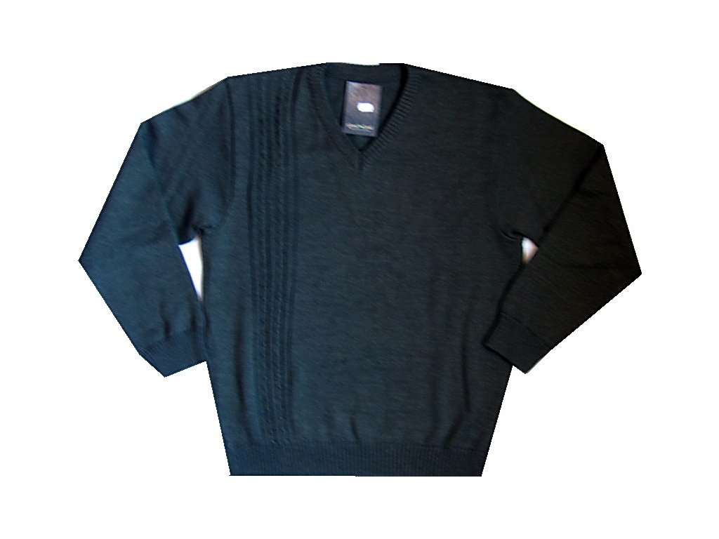 Myslivecký pulovr s výstřihem do V