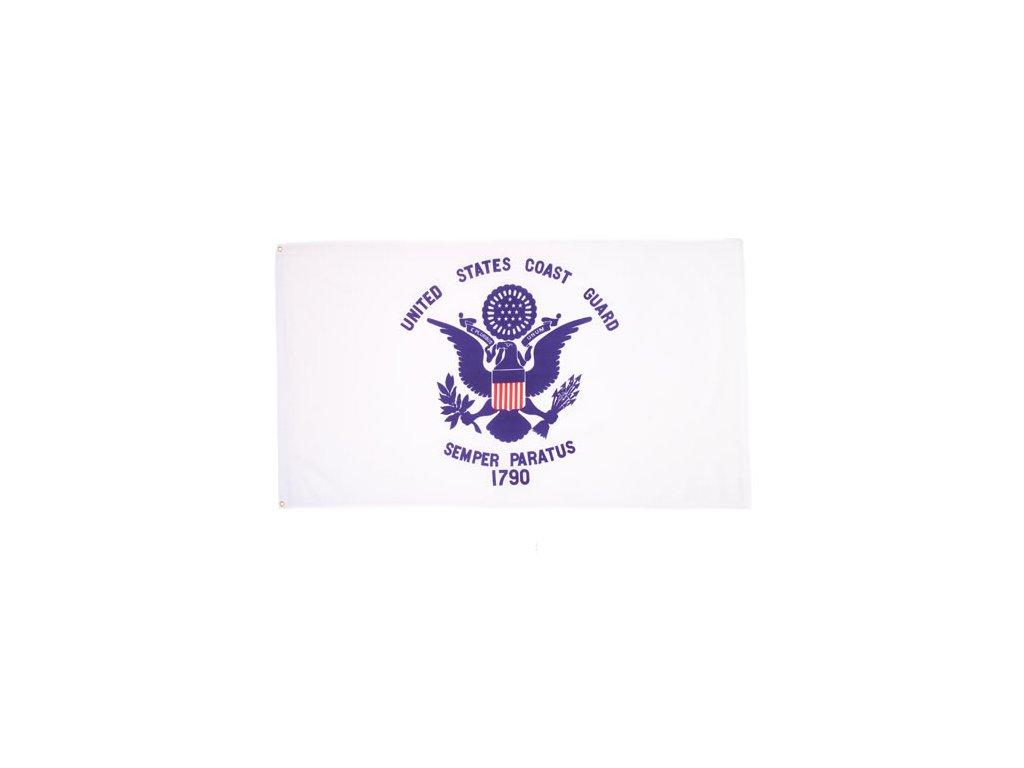 Vlajka pobřežní stráže U.S. COAST GUARD 1790 BÍLÁ