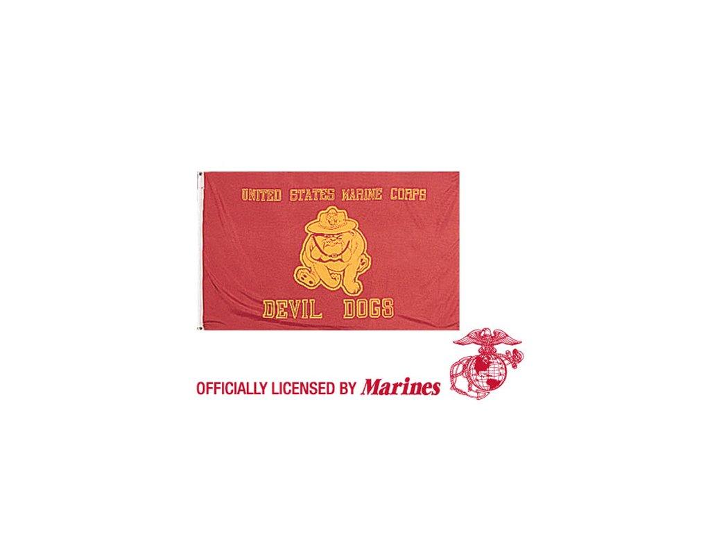 Vlajka USMC DEVIL DOGS ČERVENÁ
