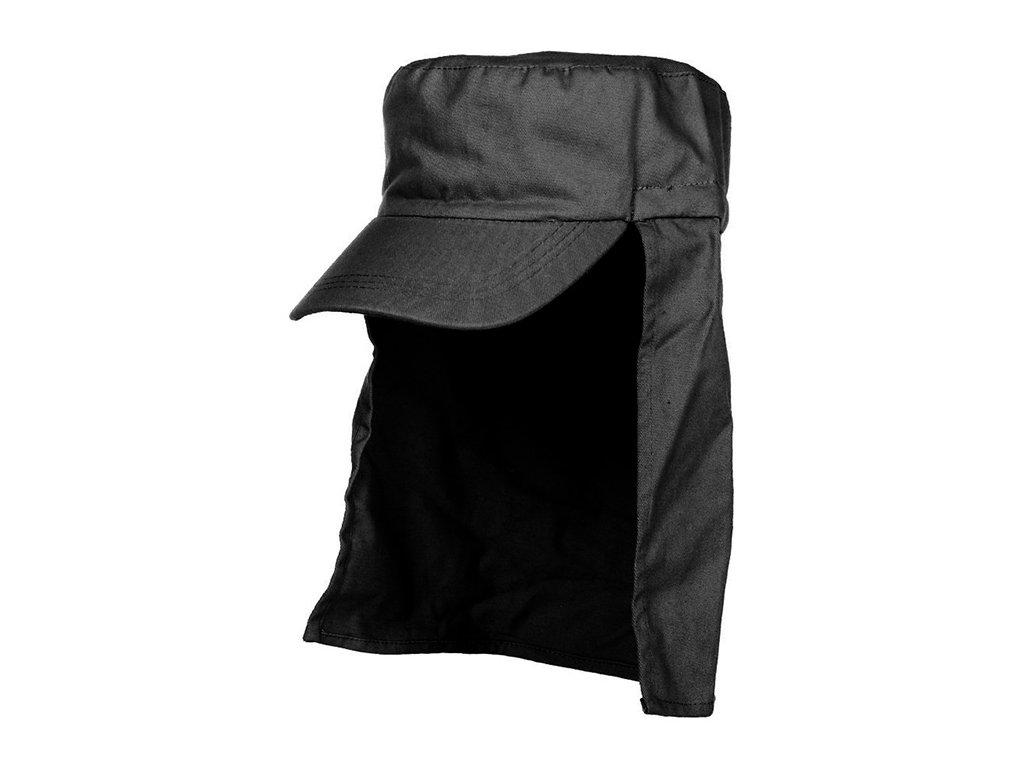 Čepice s kšiltem LEGION s ochranou krku ČERNÁ