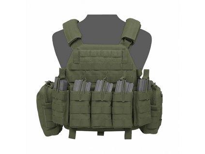 Nosič Plátů Warrior DCS DA 5.56mm Plate Carrier Olive Drab (Velikost L)
