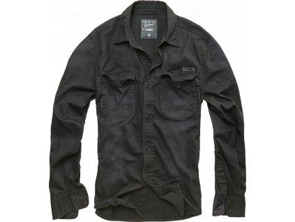 Košile dl. rukáv Brandit Denimshirt Hardee černá