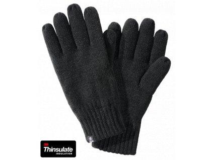 Pletené rukavice Brandit černé