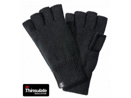 Pletené rukavice Brandit bezprsté černé