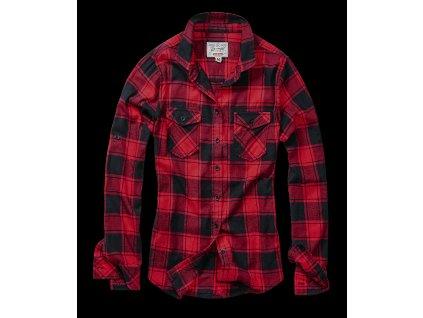 Amy dámská flanelová košile Brandit červeno-černá
